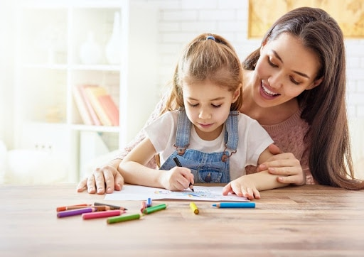 Mother and Daughter Colouring